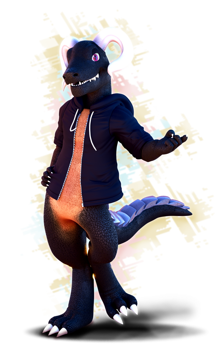 Commission: Melon Lizard! by SmashingRenders