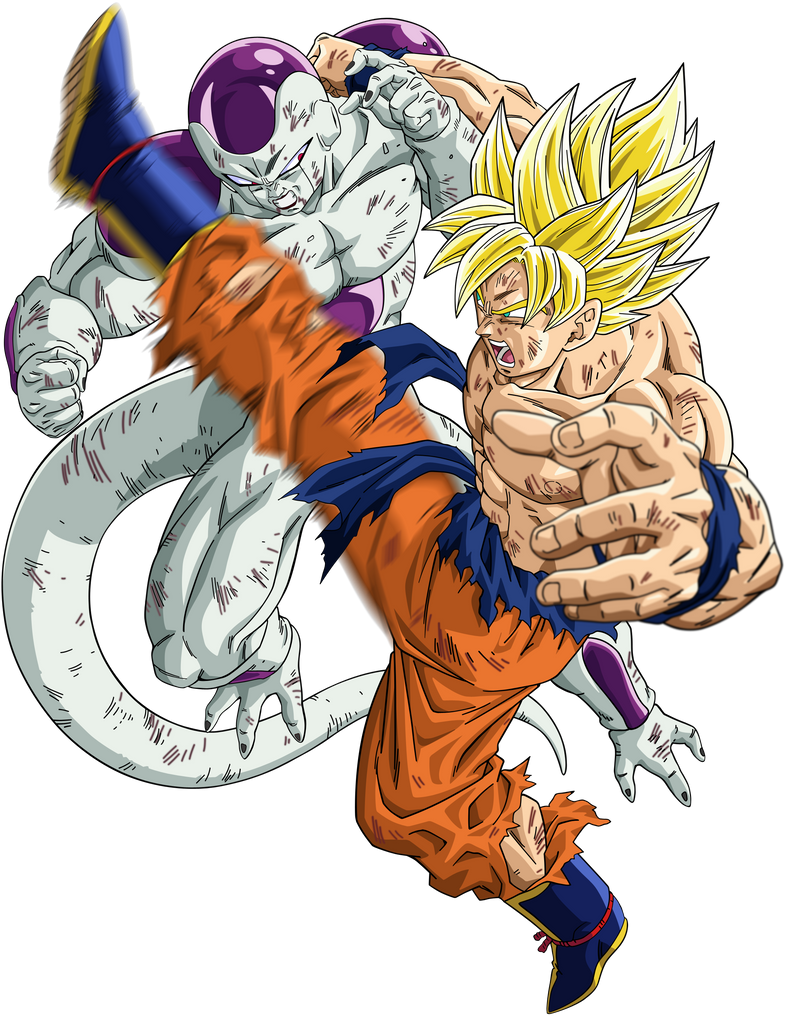 Dragon Ball z Goku vs Frieza Super Saiyan Goku Super Saiyan vs Frieza
