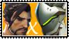 Overwatch yaoi stamp  HanzoxGenji by SamThePenetrator