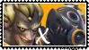 Overwatch yaoi stamp  JunkratxRoadhog by SamThePenetrator
