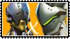 Overwatch yaoi stamp  ZenyattaxGenji by SamThePenetrator