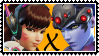 Overwatch yuri stamp  DVaxWidowMaker by SamThePenetrator