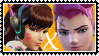 Overwatch yuri stamp  DVaxZarya by SamThePenetrator