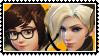 Overwatch yuri stamp  MeixMercy by SamThePenetrator