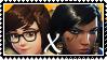 Overwatch yuri stamp  MeixPharah by SamThePenetrator
