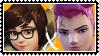 Overwatch yuri stamp  MeixZarya by SamThePenetrator