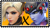 Overwatch yuri stamp  MercyxWidowMaker by SamThePenetrator