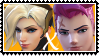 Overwatch yuri stamp  MercyxZarya by SamThePenetrator