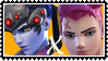Overwatch yuri stamp  WidowMakerxZarya by SamThePenetrator