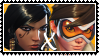 Overwatch yuri stamp  PharahxTracer by SamThePenetrator