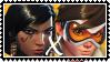 Overwatch yuri stamp  PharahxTracer by SamThePenetrator
