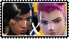 Overwatch yuri stamp  PharahxZarya by SamThePenetrator