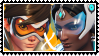 Overwatch yuri stamp  TracerxSymmetra by SamThePenetrator