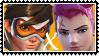 Overwatch yuri stamp  TracerxZarya by SamThePenetrator