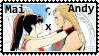 FatalFury special  Mai x Andy  kiss stamp by SamThePenetrator