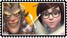 Overwatch straight stamp Junkrat x Mei by SamThePenetrator