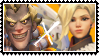 Overwatch straight stamp Junkrat x Mercy by SamThePenetrator