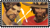 overwatch yaoi stamp Hanzo x McCree by SamThePenetrator
