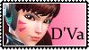 Overwatch stamp  DVa by SamThePenetrator