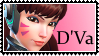 Overwatch stamp  DVa by SamThePenetrator