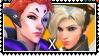 Overwatch yuri shipping Moira x Mercy by SamThePenetrator