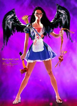 Bloody heart Cupid