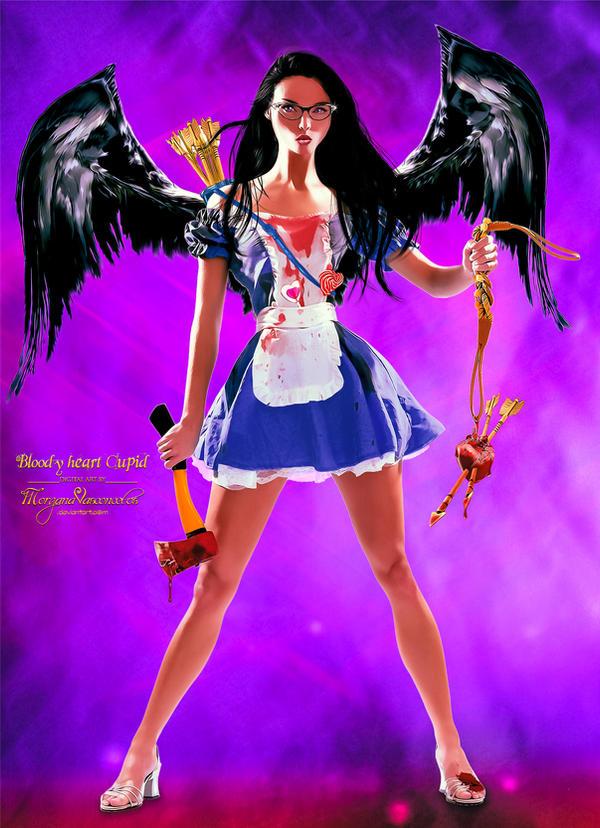 Bloody heart Cupid by MorganaVasconcelos