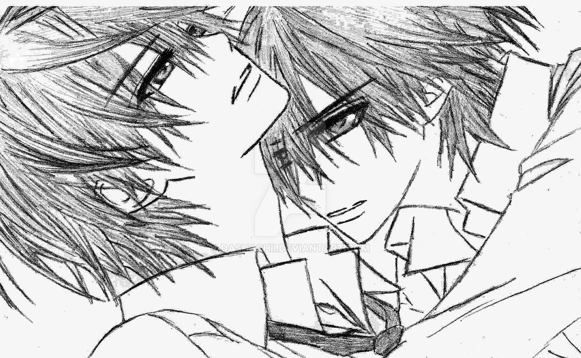 Line Art Zero : Zero and ichiru sketch by dashachii on deviantart