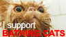 I support bathing cats. by See-wah