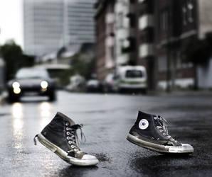 walking in my shoes by Propaganda-Panda
