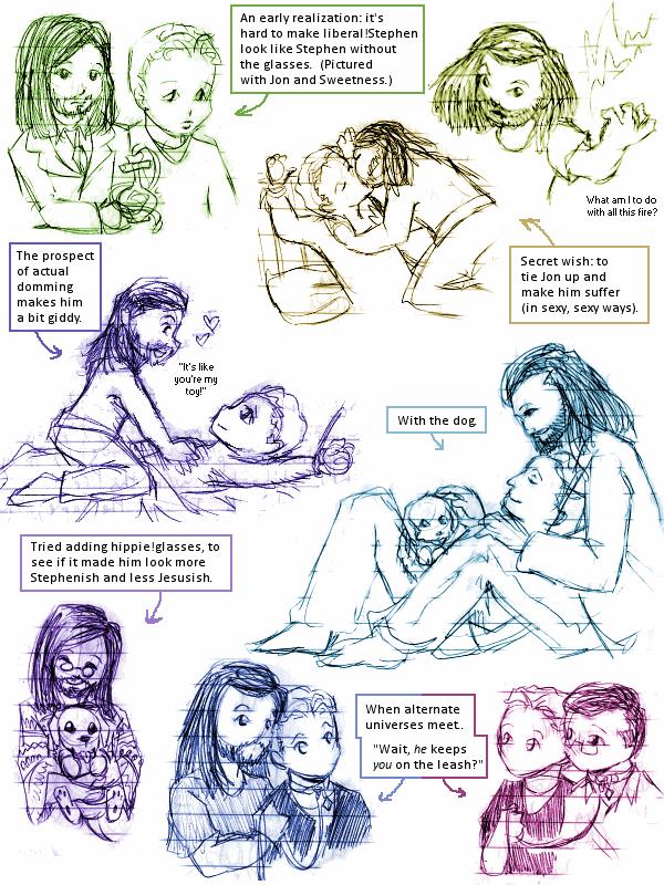 Liberalverse sketchdump by ErinPtah