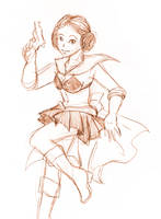 Sketch - Sailor Alderaan by ErinPtah