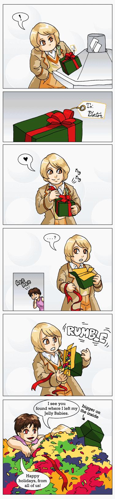 A Squishy TARDIS Christmas