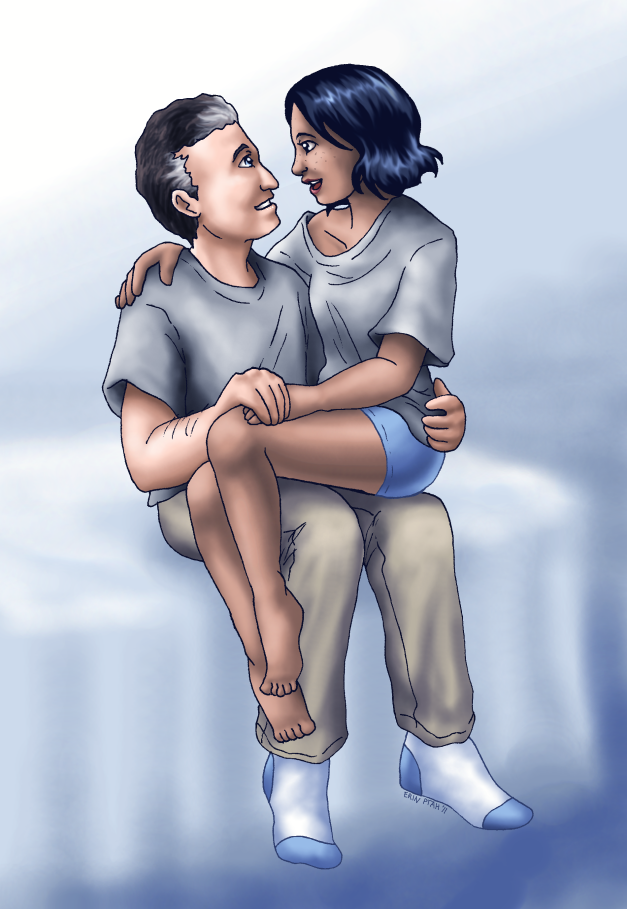 Commission - Grey and Blue by ErinPtah