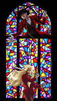 Stained Glass Knight by ErinPtah