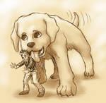 Tiny Jon Loves Dogs by ErinPtah