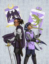 Raven Knight and Dragon Knight by ErinPtah