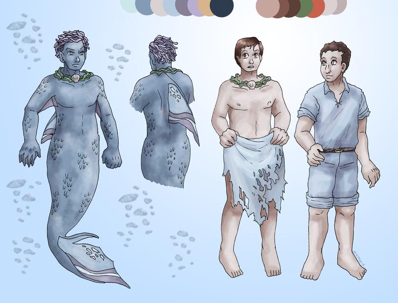 Little Mermaid 'Stephen' Design by ErinPtah
