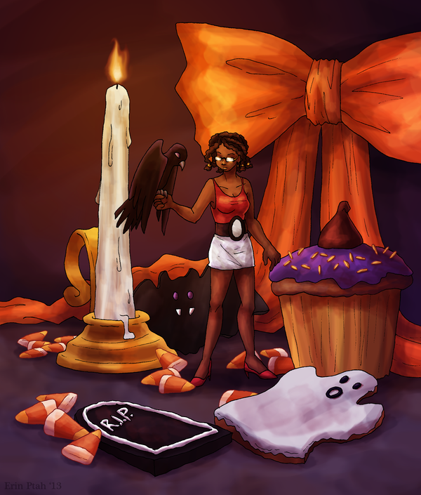 Candy Corn and Candlelight by ErinPtah
