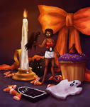 Candy Corn and Candlelight