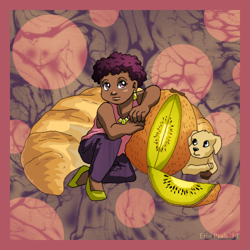 Bianca with Kiwi by ErinPtah
