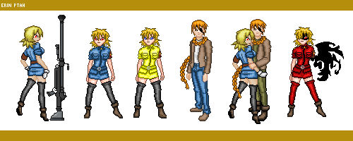 Dolls - Seras and Pip (and the Cannon)