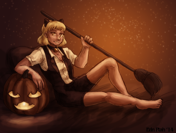Witch Cat Reseda by ErinPtah