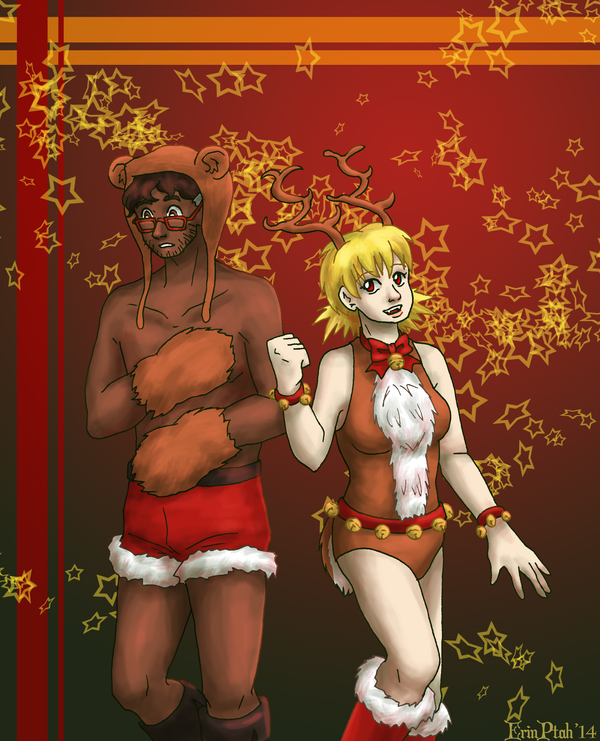 Christmas Fanservice 2014 by ErinPtah