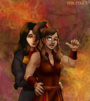 Femslash February 2015 - Korra and Asami by ErinPtah