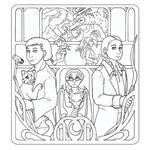 Coloring Page - Witches and Sons