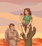 Cactus Jane and Cactoid Jim by ErinPtah