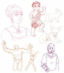 Fan-ish Sketchpile 2014 by ErinPtah