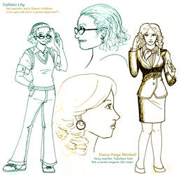 Vintage - high school characters by ErinPtah