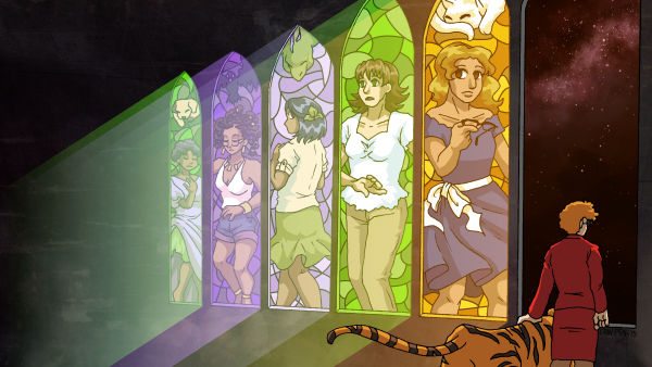 Wallpaper - Stained Glass Night